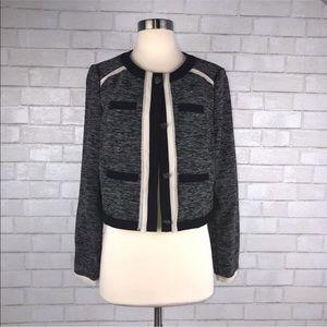 Vince Camuto Chiffon Cropped Tweed Blazer OO1511